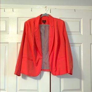 Neon orange blazer!